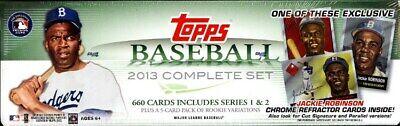 2013 Topps Baseball Complete Factory Set + 5 Bonus RC + Jackie Robinson Chrome!