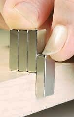 Separating magnets using this overhang method