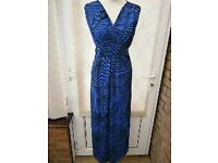 new with labels navy strip maxi dress