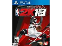 Nba 2k18 legend edition ps4 brand new and sealed