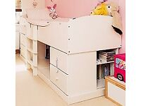 Kids single Mid Sleeper bed by Aspace.