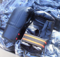 BRAND NEW ARTIFICIAL LEATHER BOXING / BAG GLOVES
