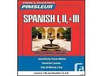 Pimsleur SPANISH 1, 2 & 3 plus Language Course mp3 - 70 lessons!