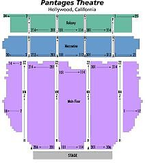 2 Tickets HAMILTON Saturday 9/02/17 Orchestra Row S Pantages Hollywood Theatre
