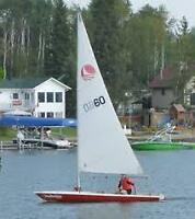 Bombardier Invitation sailboat with red fiberglass hull