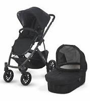 black uppababy vista with rumble