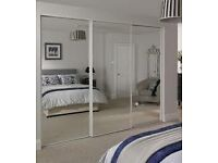 mirrored wardrobe doors plus track and fittings brand new in packaging