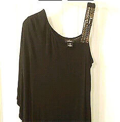 NEW Black Loved by Heidi Klum Off the Shoulder Beaded Top (L)