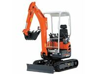 mini digger for hire with driver
