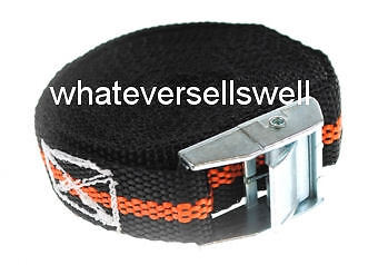 4 x HEAVY DUTY 5m x 25mm TIE DOWN STRAPS 250kg luggage strap cargo cam buckle