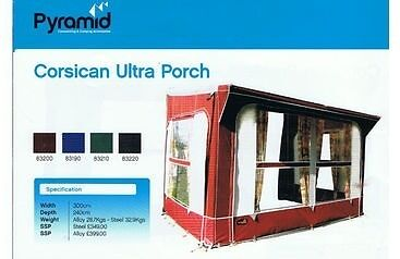 Pyramid Corsican Ultra Porch Awning Annexe Easy Tread Breathable Carpet Storm Kit