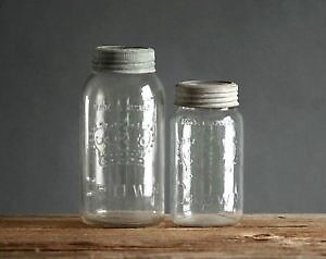 Lot of collectible Crown old mason jars