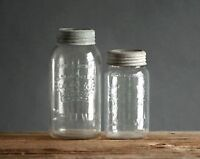 Lot of collectible Crown old mason fruit jars