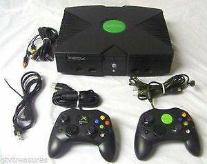 ORIGINAL MICROSOFT XBOX CONSOLE VIDEO GAME SYSTEM WITH 6 GAMES