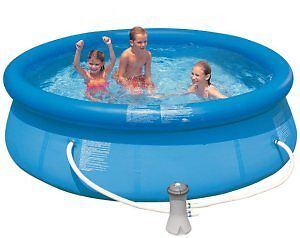 intex inflateable pool and accessories