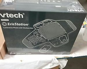Vtech ErisStation Conference Phone with 4 Wireless Mics New