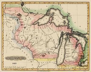 Michigan Map Ebay