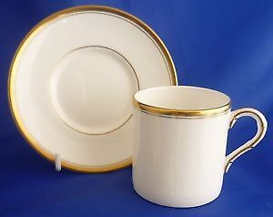 "Royal Worcester ""VICEROY GOLD"" Espresso Cup & Saucer Set"