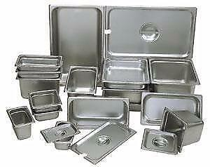 STAINLESS STEEL GN PANS, STEAM TABLE PANS, SALAD TABLE PANS, FOOD STORAGE PANS--STARTING FROM $2.99--AMAZING DEALS!!!!