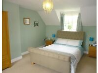 Padded double bed - no mattress