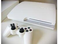 SONY PS3 RARE MATT WHITE EDITION+ 3games