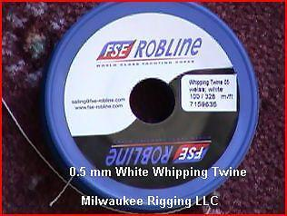 FSE Robline #2 Waxed Yarn 0.5mm x 328 ft White Polyester twine TY-05WSP beading