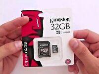 Kingston micro 32 gb memory card.