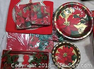 Christmas Tablecloths, Plates, Cups B