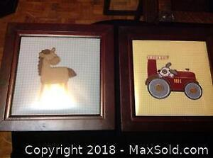 2 Fabric Wall Art Pieces A