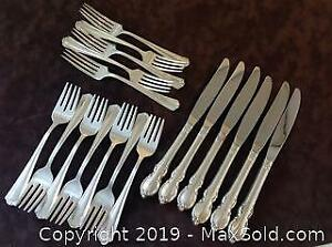 TWO partial sets of SILVER PLATE flatware.