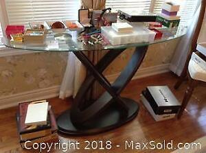 Glass Top Sofa Table C