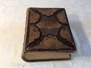 Antique Bible presented In1887