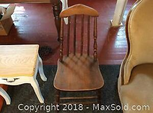 Single Wooden Old Kitchen Chair