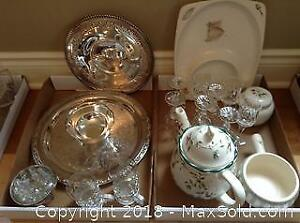 Crystal Silverplate And China