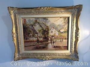 Original oil painting by noted Canadian painter Marion Long.