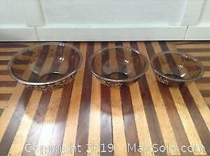 Set Of Three Vintage Pyrex Bowels Forever Yours
