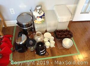 Small Appliances Storage Pots and More B
