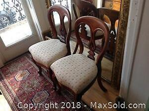 Antique Irish signed J. Reilly set of four chairs. Compare on 1st dibs at 1000 US per chair.