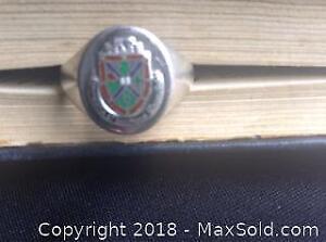 Mens Ring Sterling Vintage Coat of Arms