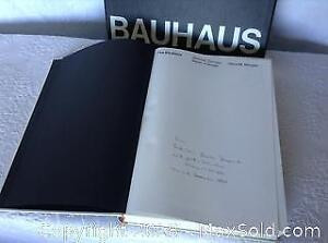 The Bauhaus By Hans M. Wingler Signed 1969