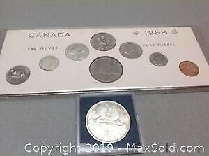 1963 and 1968 Canada Coins. A