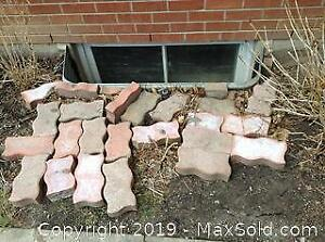 Paving Stones and Metal Posts C
