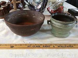 Two Pottery Flower Pots