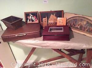 Art Work And Wooden Boxes A