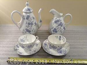 Blue And White Tea For 2 Set A
