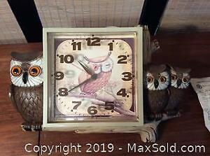 Vintage Kitchen Owl Clock