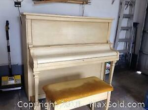 Upright Piano And Bench - B