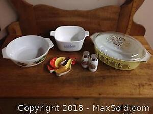Pyrex, Corning and Milk Glass