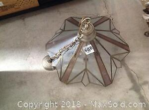 Stained Glass Hanging Lamp- A