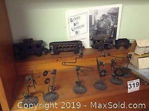 Cast Iron Train Set And Metal models